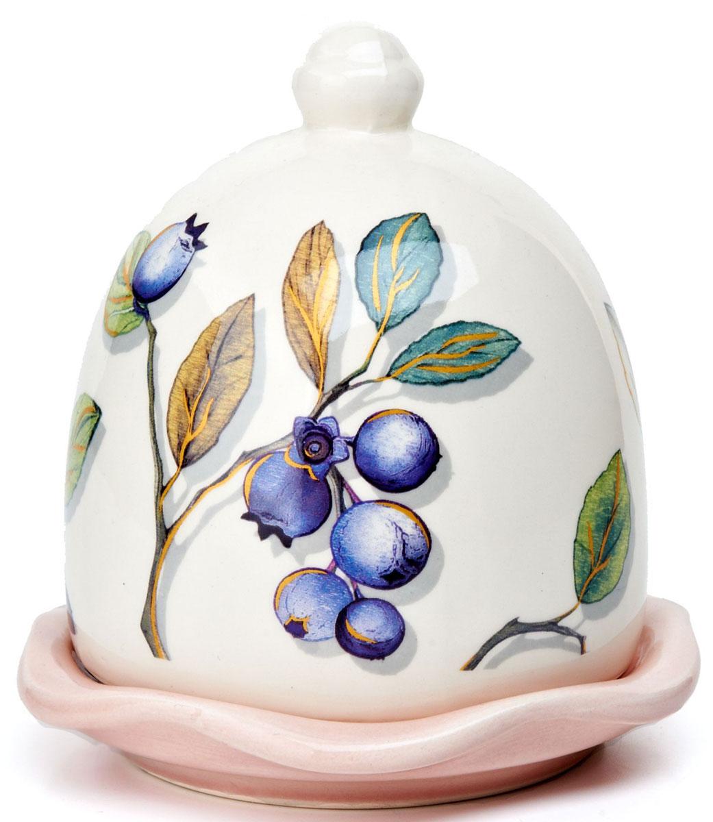 Лимонница ENS Group Botanica, 9 х 9 х 12 см. L2430674115510Лимонница Botanica выполнена из высококачественной керамики и состоит из блюдца и крышки. Изделие украшено изображением черники. Лимонница Botanica доставит истинное удовольствие ценителям прекрасного и поможет сохранить свежесть лимона на длительный срок. Яркий дизайн, несомненно, придется вам по вкусу.Не рекомендуется мыть в посудомоечной машине.