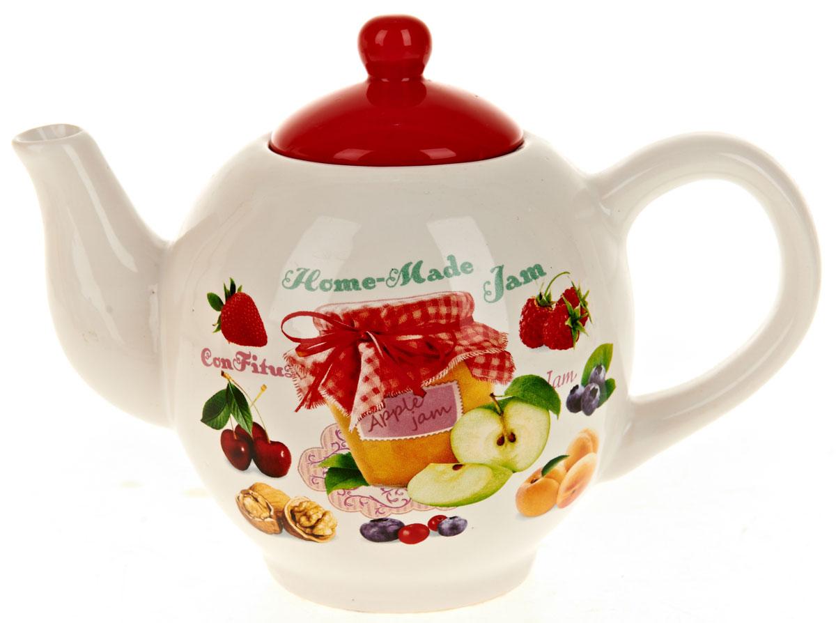 Чайник заварочный ENS Group Джем, 1,05 л115510Заварочный чайник Джем, изготовленный из высококачественной керамики, прекрасно впишется в интерьер вашей кухни и станет достойным дополнением к кухонному инвентарю. Изделие снабжено эргономичной крышкой и удобной ручкой. Такой чайник не только украсит ваш кухонный стол и подчеркнет прекрасный вкус хозяйки, но и станет отличным подарком.Можно мыть в посудомоечной машине.