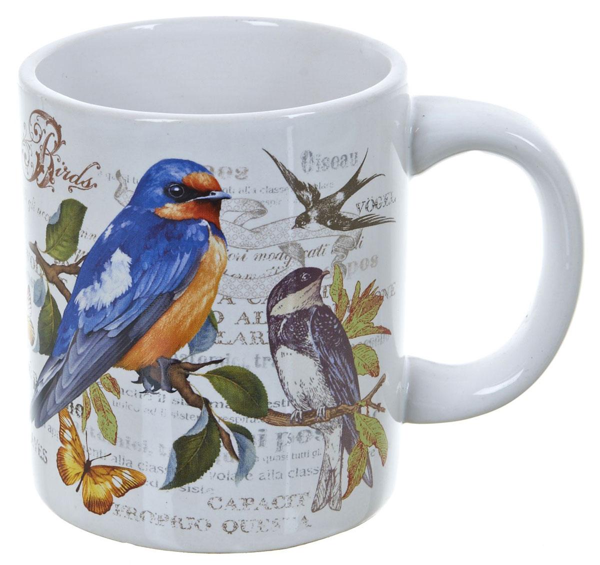 Кружка ENS Group Birds, 400 мл. L2430743391602Кружка Birds выполнена из высококачественной керамики и декорирована ярким рисунком с изображением птиц.Кружка сочетает в себе оригинальный дизайн и функциональность. Благодаря такой кружке пить напитки будет еще вкуснее. Упакована в подарочную упаковку, благодаря чему может послужить отличным подарком родным и близким!