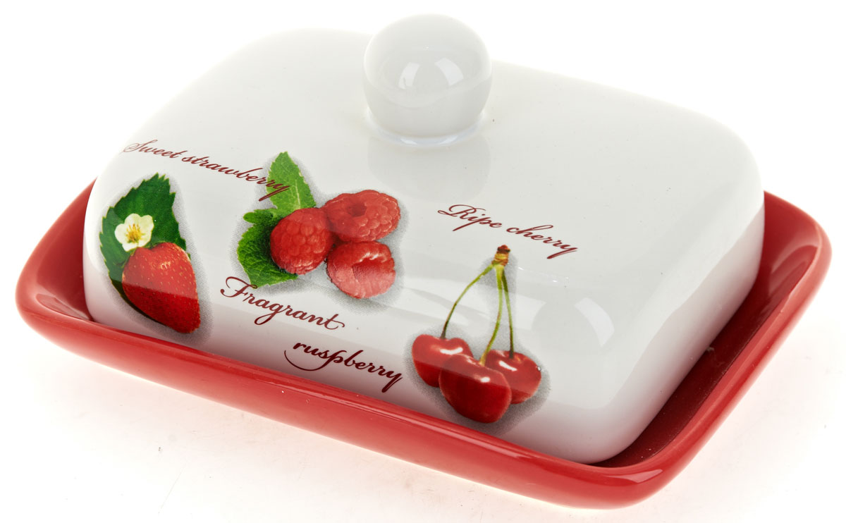 Масленка ENS Group Садовая ягода. L252025854 009312Масленка Садовая ягода, изготовленная из керамики, предназначена для красивой сервировки и хранения масла. Она состоит из крышки с удобной ручкой и подноса. Масло в ней долго остается свежим, а при хранении в холодильнике не впитывает посторонние запахи. Гладкая поверхность обеспечивает легкую чистку.Можно мыть в посудомоечной машине.