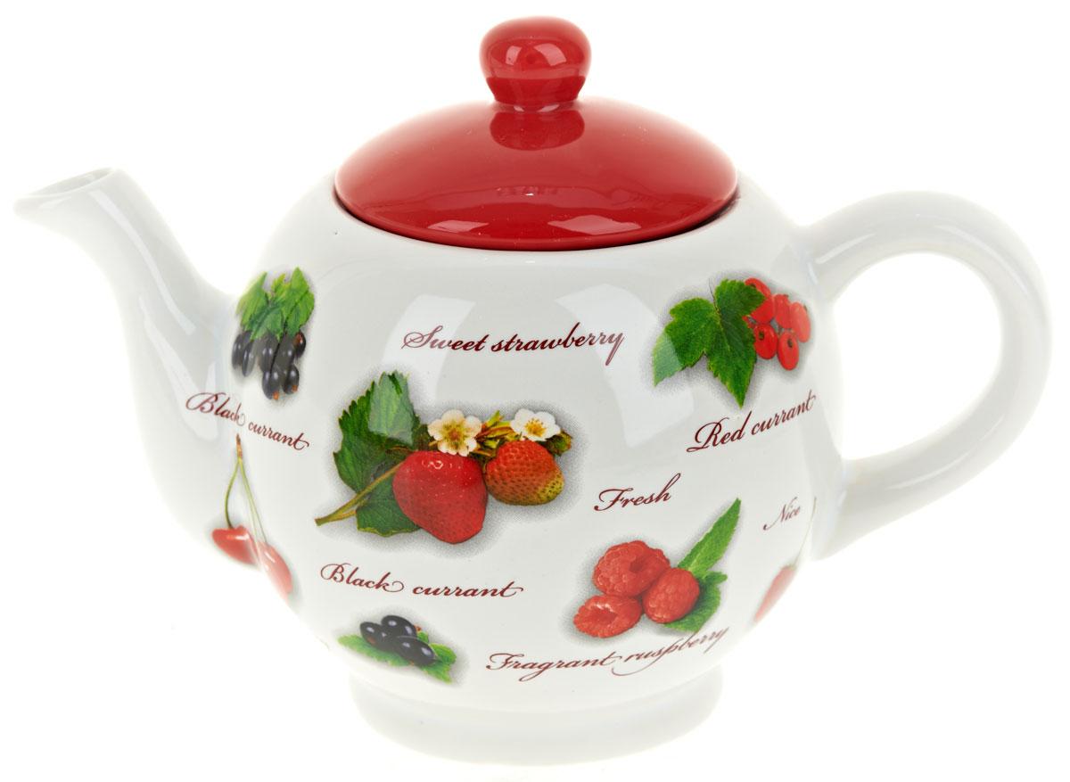 Чайник заварочный ENS Group Садовая ягода, 950 мл68/5/3Заварочный чайник Садовая ягода, изготовленный из высококачественной керамики, прекрасно впишется в интерьер вашей кухни и станет достойным дополнением к кухонному инвентарю. Изделие снабжено эргономичной крышкой и удобной ручкой. Такой чайник не только украсит ваш кухонный стол и подчеркнет прекрасный вкус хозяйки, но и станет отличным подарком.Можно мыть в посудомоечной машине.