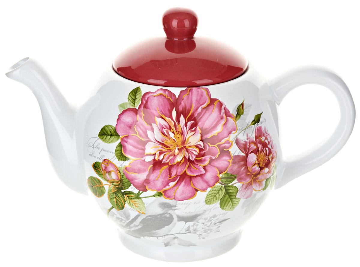 Чайник заварочный ENS Group Райский сад, 950 мл54 009312Заварочный чайник Райский сад, изготовленный из высококачественной керамики, прекрасно впишется в интерьер вашей кухни и станет достойным дополнением к кухонному инвентарю. Изделие снабжено эргономичной крышкой и удобной ручкой. Такой чайник не только украсит ваш кухонный стол и подчеркнет прекрасный вкус хозяйки, но и станет отличным подарком.Можно мыть в посудомоечной машине.
