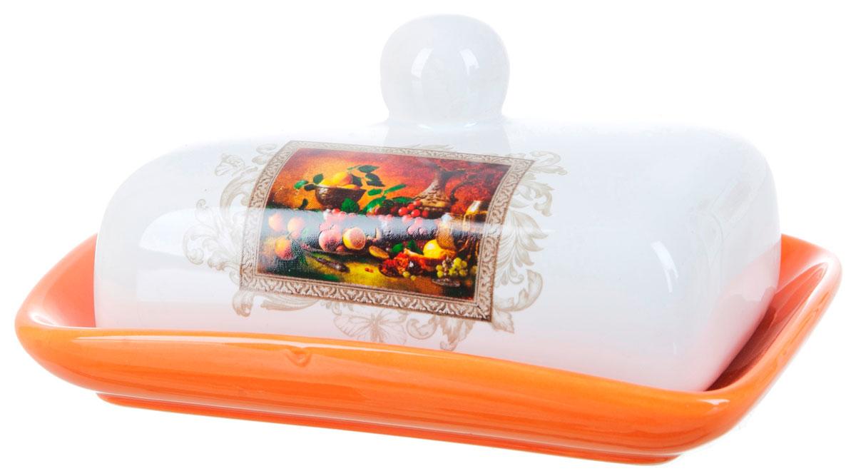 Масленка ENS Group Севилья. L252054954 009312Масленка Севилья, изготовленная из керамики, предназначена для красивой сервировки и хранения масла. Она состоит из крышки с удобной ручкой и подноса. Масло в ней долго остается свежим, а при хранении в холодильнике не впитывает посторонние запахи. Гладкая поверхность обеспечивает легкую чистку.Можно мыть в посудомоечной машине.