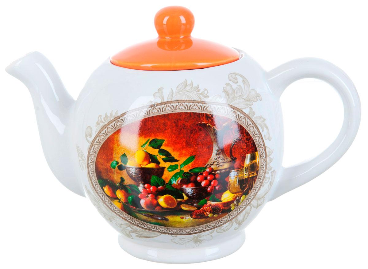 Чайник заварочный ENS Group Севилья, 1,1 л115510Заварочный чайник Севилья, изготовленный из высококачественной керамики, прекрасно впишется в интерьер вашей кухни и станет достойным дополнением к кухонному инвентарю. Изделие снабжено эргономичной крышкой и удобной ручкой. Такой чайник не только украсит ваш кухонный стол и подчеркнет прекрасный вкус хозяйки, но и станет отличным подарком.Можно мыть в посудомоечной машине.