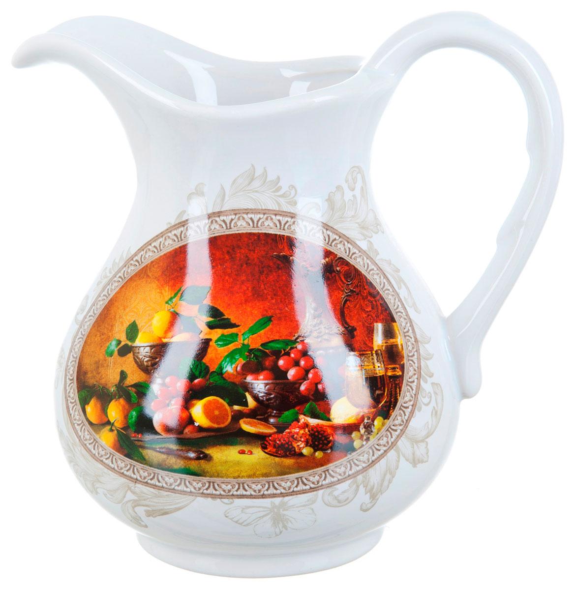 Кувшин ENS Group Севилья, 1,3 лVT-1520(SR)Кувшин Севилья изготовлен из высококачественной керамики с изящным рисунком. Кувшин оснащен удобной ручкой. Прекрасно подходит для подачи воды, сока, компота и других напитков. Изящный кувшин красиво оформит стол и порадует вас элегантным дизайном и простотой ухода.