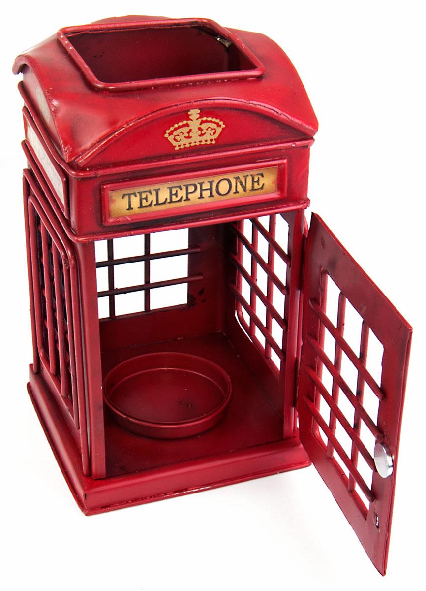 Подсвечник Platinum Телефонная будка, 10 х 10 х 16,5 смБрелок для ключейДекоративный подсвечник Platinum Телефонная будка изготовлен из высококачественного металла. Он позволит украсить интерьер дома или рабочего кабинета оригинальным образом. Вы можете поставить подсвечник в любом месте, где он будет удачно смотреться и радовать глаз. Кроме того - это отличный вариант подарка для ваших близких и друзей.