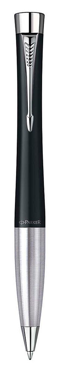 Parker Ручка шариковая Urban Muted Black CT цвет чернил синий72523WDШариковая ручка Parker Urban Muted Black CT изготовлена из ювелирной латуни с покрытием черным матовым лаком, в отделке применяется хромирование. В ручке используются стандартные шариковые стержни Parker, в комплект поставки входит один стержень синего цвета. Ручка имеет металлическую зону захвата и поворотный механизм. Средняя толщина линии. Шариковая ручка упакована в коробку с логотипом компании Parker. У изделия имеется международный гарантийный талон.Эксклюзивная ручка Parker Urban Muted Black CT подчеркнет стиль и элегантность ее владельца и станет превосходным подарком ценителю изящества и роскоши.Ручка - это не просто пишущий инструмент, это - часть имиджа, наглядно демонстрирующая статус, характер и образ жизни ее владельца.