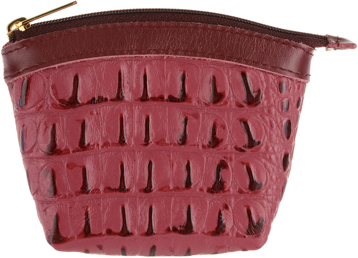 Кошелек-монетница женский Dimanche Loricata, цвет: красный. 258/333W16-11132_329Удобный многофункциональный кошелек-монетница Dimanche Loricata изготовлен из натуральной кожи. Закрывается изделие на застежку-молнию.