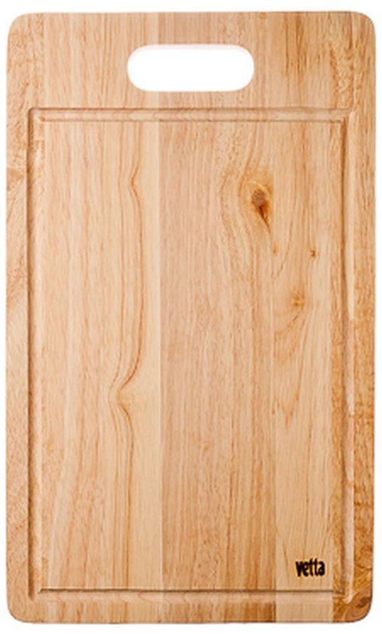 Доска разделочная Vetta, 26 х 43 см115510Разделочная доска Vetta, изготовленная из дерева, прекрасно подходит для разделки и измельчения всех видов продуктов.