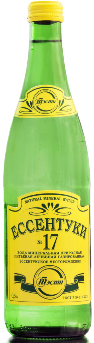 Ессентуки №17 вода минеральная природная лечебно-столовая, 0,5 л санаторио вода минеральная питьевая лечебно столовая газированная 1 5 л