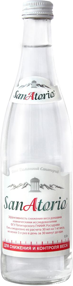 Санаторио вода минеральная питьевая лечебно-столовая газированная, 0,5 л4860019001353Вода СанАторио минеральная осеребренная питьевая лечебно-столовая, газированная, скважина №69-бис Железноводского месторождения, скважина №26 Нагутского месторождения. Сульфатно-гидрокарбонатная кальциево-натриевая. Источники расположены в особо охраняемом эколого-курортном регионе Кавказские Минеральные Воды, который по богатству, количеству и разнообразию бальнеологических ресурсов, а особенно их ценности, не может сравниться ни с одним местом на всём Евроазиатском континенте. Вода СанАторио минеральная оказывает благоприятное воздействие на организм в целом, помогает справиться с обезвоживанием, имеет приятный вкус и важную в жаркие летние дни свежесть. Курсовое употребление воды улучшает самочувствие, налаживает сон, повышает настроение, помогает очищать организм, придаёт энергии, укрепляет иммунитет, значительно снижает уровень холестерина в крови, нормализует сахар, влияет на гормональные показатели, улучшая общее состояние нервной системы. Также СанАторио нейтрализует вред лекарственных препаратов, защищает организм курильщиков от вредного воздействия никотина.