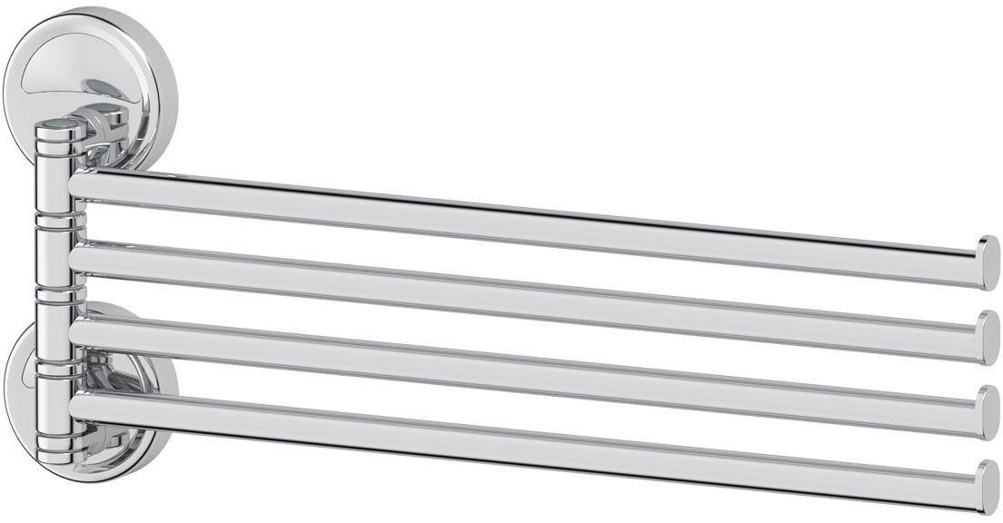 Держатель полотенец FBS Ellea, поворотный, четверной 37 см, цвет: хром. ELL 0463005Аксессуары торговой марки FBS производятся на заводе ELLUX Gluck s.r.o., имеющем 20-летний опыт работы. Предприятие расположено в Злинском крае, исторически знаменитом своим промышленным потенциалом. Компоненты из всемирно известного богемского хрусталя выгодно дополняют серии аксессуаров. Широкий ассортимент, разнообразие форм, высочайшее качество исполнения и техническое?совершенство продукции отвечают самым высоким требованиям. Продукция FBS представлена на российском рынке уже более 10 лет и за это время успела завоевать заслуженную популярность у покупателей, отдающих предпочтение дорогой и качественной продукции.