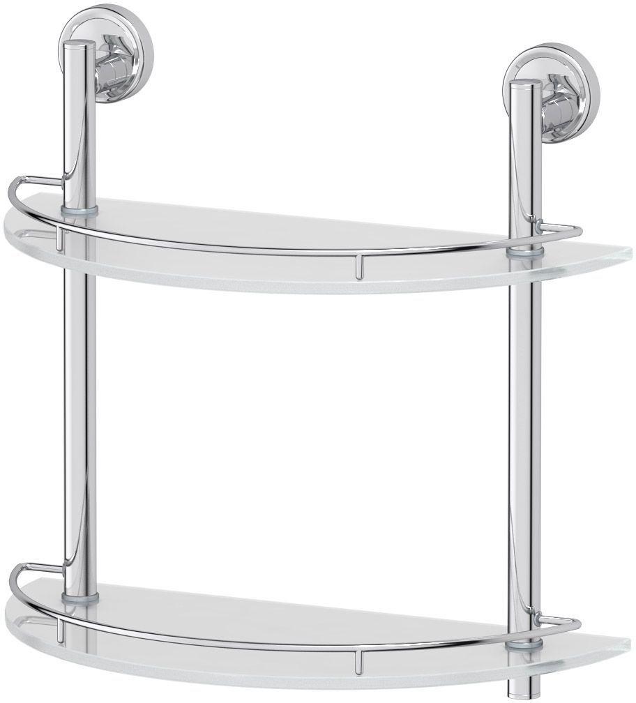 Полка для ванной комнаты FBS  Ellea , 2-х ярусная, 40 см, цвет: хром. ELL 081 - Полки и стеллажи