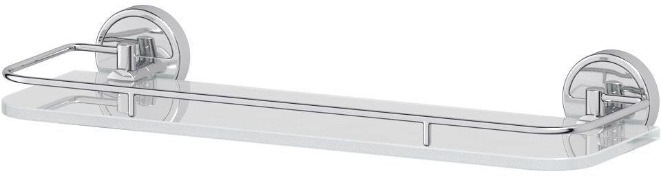 Полка для ванной комнаты FBS Luxia, с держателями, 40 см, цвет: хром. LUX 014282057Аксессуары торговой марки FBS производятся на заводе ELLUX Gluck s.r.o., имеющем 20-летний опыт работы. Предприятие расположено в Злинском крае, исторически знаменитом своим промышленным потенциалом. Компоненты из всемирно известного богемского хрусталя выгодно дополняют серии аксессуаров. Широкий ассортимент, разнообразие форм, высочайшее качество исполнения и техническое?совершенство продукции отвечают самым высоким требованиям. Продукция FBS представлена на российском рынке уже более 10 лет и за это время успела завоевать заслуженную популярность у покупателей, отдающих предпочтение дорогой и качественной продукции.