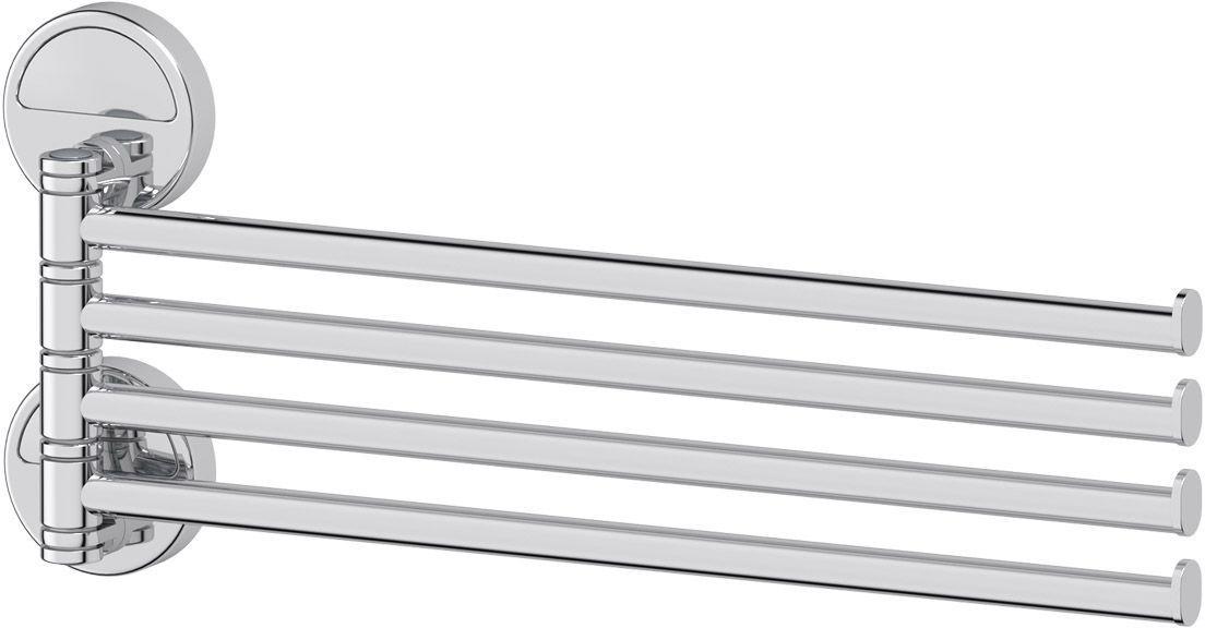 Держатель полотенец FBS Luxia, поворотный, четверной 37 см, цвет: хром. LUX 04655764_ракушки_белый, желтыйАксессуары торговой марки FBS производятся на заводе ELLUX Gluck s.r.o., имеющем 20-летний опыт работы. Предприятие расположено в Злинском крае, исторически знаменитом своим промышленным потенциалом. Компоненты из всемирно известного богемского хрусталя выгодно дополняют серии аксессуаров. Широкий ассортимент, разнообразие форм, высочайшее качество исполнения и техническое?совершенство продукции отвечают самым высоким требованиям. Продукция FBS представлена на российском рынке уже более 10 лет и за это время успела завоевать заслуженную популярность у покупателей, отдающих предпочтение дорогой и качественной продукции.