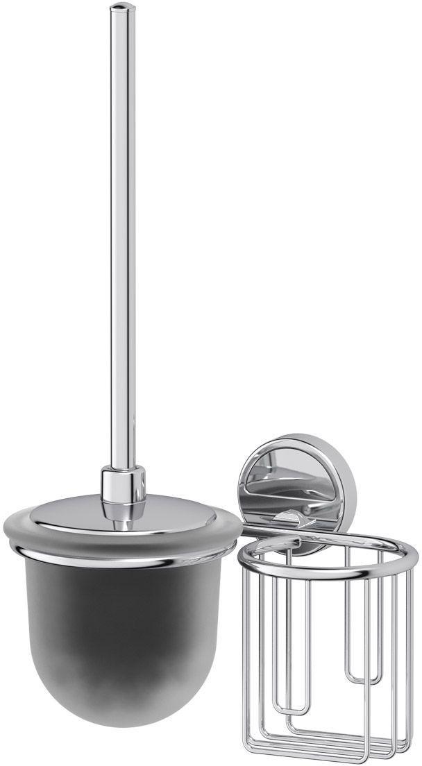 Гарнитур для туалета FBS Luxia, цвет: хром, 2 предмета. LUX 059А0072001Гарнитур для туалета FBS Luxia выполнен из высококачественной латуни с хромированным покрытием. Гарнитур состоит из настенного держателя для освежителя и ершика с крышкой. Высококачественные материалы, а так же прочные крепления позволят наслаждаться покупкой долгие годы. Такой гарнитур приятно дополнит интерьер вашей туалетной комнаты.