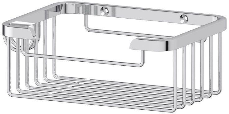 """Полочка-решетка для ванной FBS """"Ryna"""", с крючком, 13 см, цвет: хром. RYN 016"""