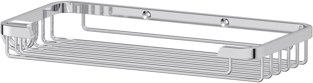 """Полочка-решетка для ванной FBS """"Ryna"""", с крючком, 20 см, цвет: хром. RYN 018"""