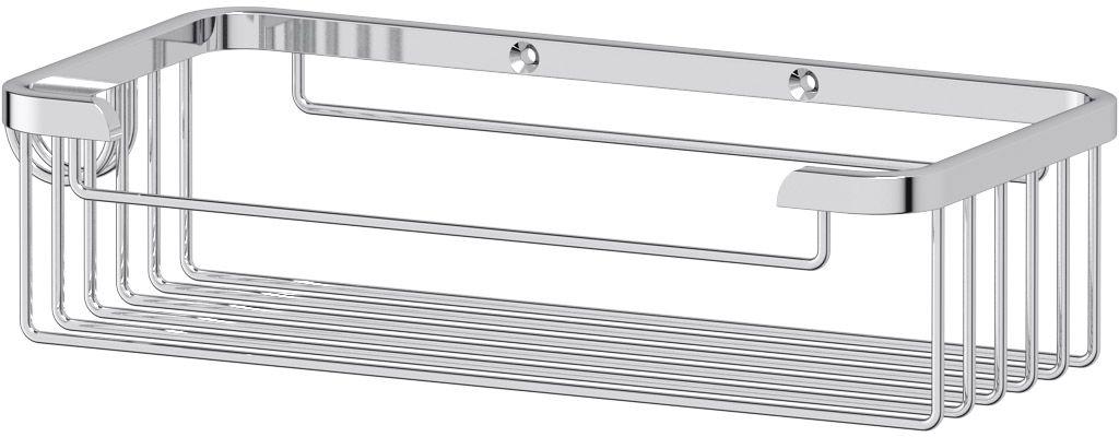 """Полочка-решетка для ванной FBS """"Ryna"""", с крючком, 20 см, цвет: хром. RYN 019"""