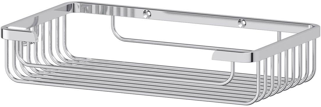 """Полочка-решетка для ванной FBS """"Ryna"""", с крючком, 26 см, цвет: хром. RYN 022"""