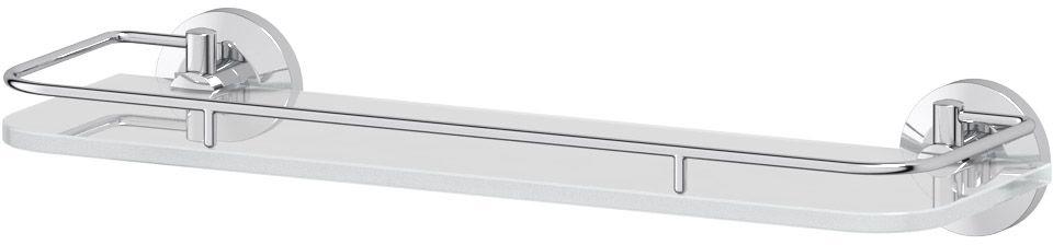 Полка для ванной комнаты FBS Standard, с держателями, 40 см, цвет: хром. STA 014282115Аксессуары торговой марки FBS производятся на заводе ELLUX Gluck s.r.o., имеющем 20-летний опыт работы. Предприятие расположено в Злинском крае, исторически знаменитом своим промышленным потенциалом. Компоненты из всемирно известного богемского хрусталя выгодно дополняют серии аксессуаров. Широкий ассортимент, разнообразие форм, высочайшее качество исполнения и техническое?совершенство продукции отвечают самым высоким требованиям. Продукция FBS представлена на российском рынке уже более 10 лет и за это время успела завоевать заслуженную популярность у покупателей, отдающих предпочтение дорогой и качественной продукции.