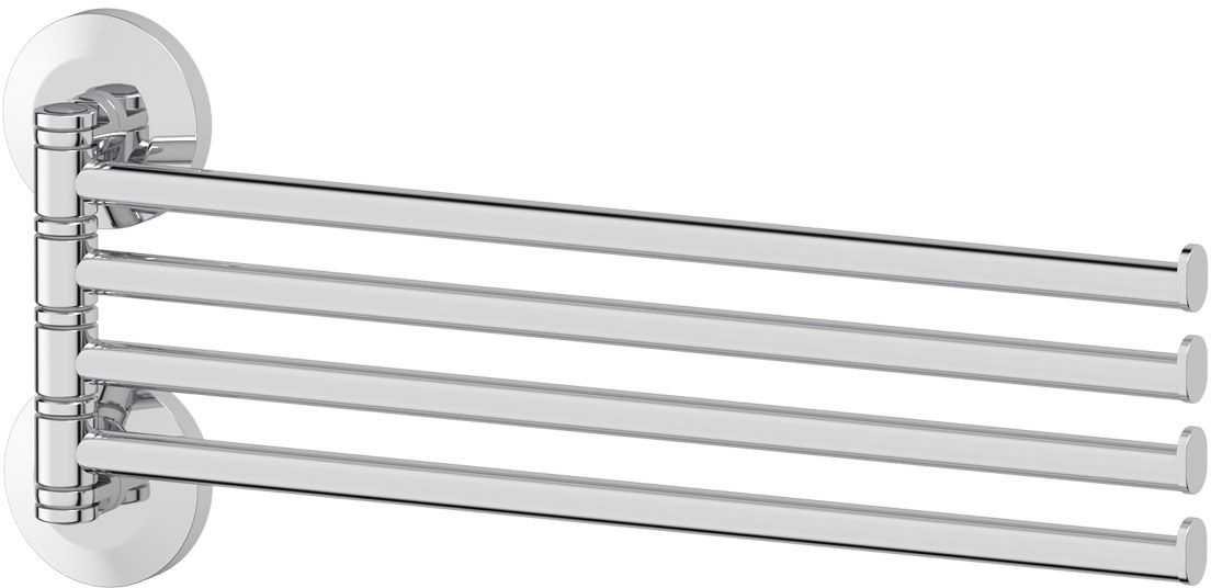 Держатель полотенец FBS Standard, поворотный, четверной 37 см, цвет: хром. STA 046ELL 037Аксессуары торговой марки FBS производятся на заводе ELLUX Gluck s.r.o., имеющем 20-летний опыт работы. Предприятие расположено в Злинском крае, исторически знаменитом своим промышленным потенциалом. Компоненты из всемирно известного богемского хрусталя выгодно дополняют серии аксессуаров. Широкий ассортимент, разнообразие форм, высочайшее качество исполнения и техническое?совершенство продукции отвечают самым высоким требованиям. Продукция FBS представлена на российском рынке уже более 10 лет и за это время успела завоевать заслуженную популярность у покупателей, отдающих предпочтение дорогой и качественной продукции.