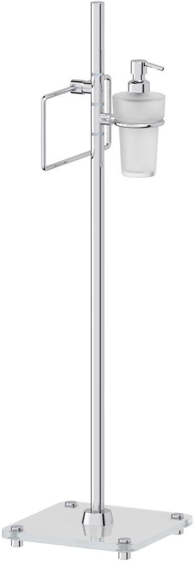 Стойка с 2-мя аксессуарами для туалета с биде FBS Universal, 80 см, цвет: хром. UNI 308120308_новый дизайнАксессуары торговой марки FBS производятся на заводе ELLUX Gluck s.r.o., имеющем 20-летний опыт работы. Предприятие расположено в Злинском крае, исторически знаменитом своим промышленным потенциалом. Компоненты из всемирно известного богемского хрусталя выгодно дополняют серии аксессуаров. Широкий ассортимент, разнообразие форм, высочайшее качество исполнения и техническое?совершенство продукции отвечают самым высоким требованиям. Продукция FBS представлена на российском рынке уже более 10 лет и за это время успела завоевать заслуженную популярность у покупателей, отдающих предпочтение дорогой и качественной продукции.
