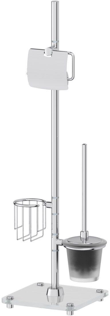 Стойка с 3-мя аксессуарами для туалета FBS Universal, 80 см, цвет: хром. UNI 310 стойка с 2 мя аксессуарами для туалета 80 см defesto pro хром def 002