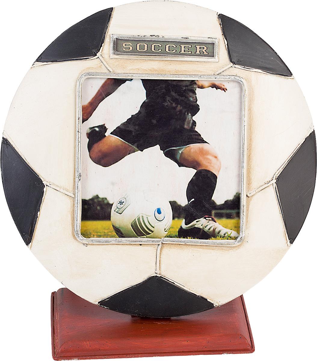 Фоторамка Platinum Футбольный мяч, 11 х 11 смFBVD-119002Фоторамка Platinum Футбольный мяч выполнена в классическом стиле из высококачественных материалов. Такая фоторамка поможет вам оригинально и стильно дополнить интерьер помещения, а также позволит сохранить память о дорогих вам людях и интересных событиях вашей жизни.Подходит для фотографии размером: 11 х 11 см.
