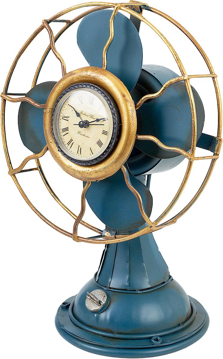 Часы настольные Platinum Вентилятор, цвет: синий. 1404B-135854 009318Оригинальные настольные часы, выполненные из металла в виде вентилятора, прекрасно украсят интерьер вашего помещения. Циферблат кремового цвета оформлен арабскими цифрами и отметками, имеет три стрелки: часовую, минутную и секундную, защищен стеклом. Оформите свой дом таким интерьерным аксессуаром или преподнесите его в качестве презента друзьям, и они оценят ваш оригинальный вкус и неординарность подарка.