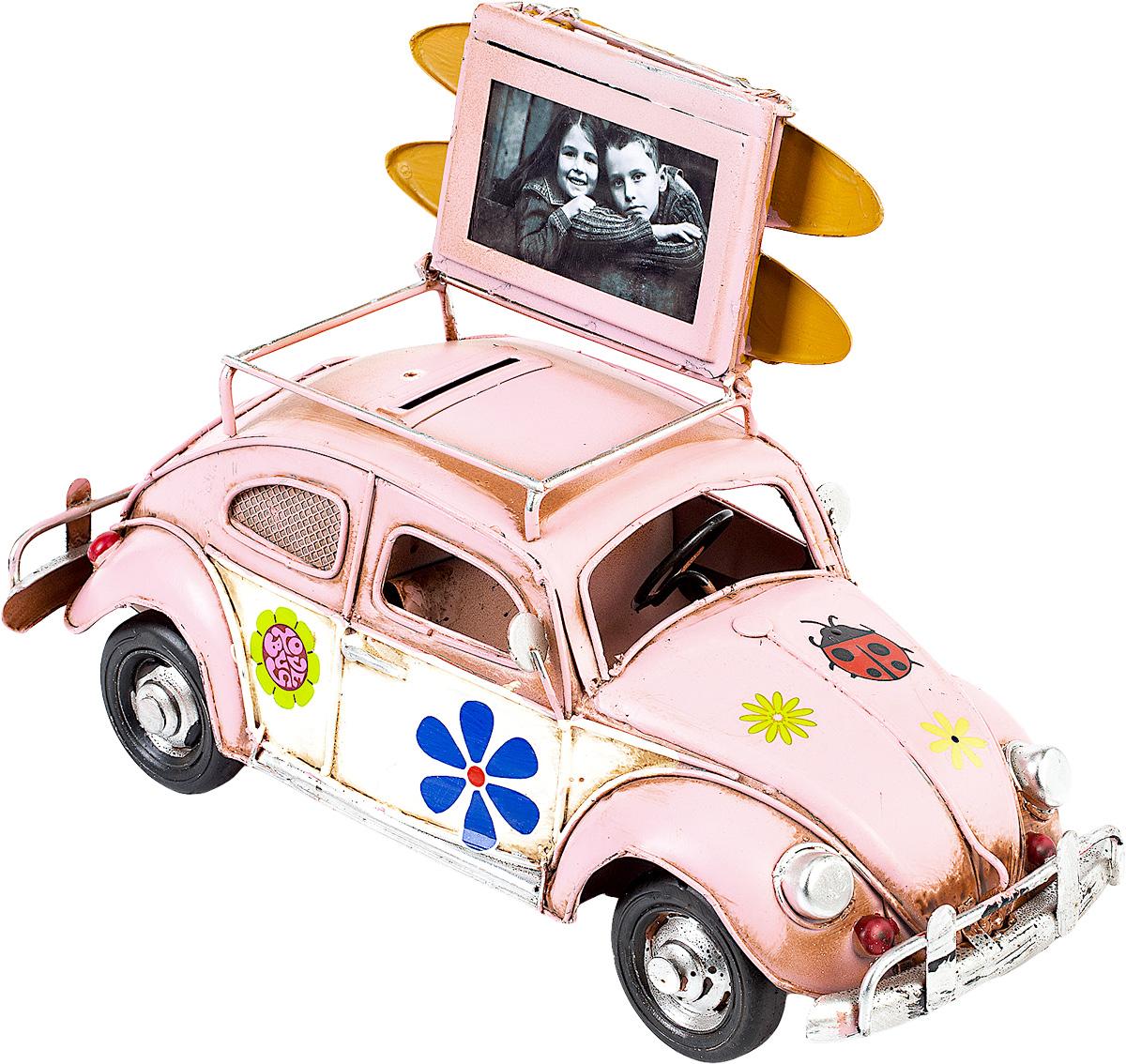 Модель Platinum Автомобиль, с фоторамкой и копилкой. 1404E-4338a030073Модель Platinum Автомобиль, выполненная из металла, станет оригинальным украшением интерьера. Вы можете поставить модель ретро-автомобиля в любом месте, где она будет удачно смотреться.Изделие дополнено копилкой и фоторамкой, куда вы можете вставить вашу любимую фотографию.Качество исполнения, точные детали и оригинальный дизайн выделяют эту модель среди ряда подобных. Модель займет достойное место в вашей коллекции, а также приятно удивит получателя в качестве стильного сувенира.