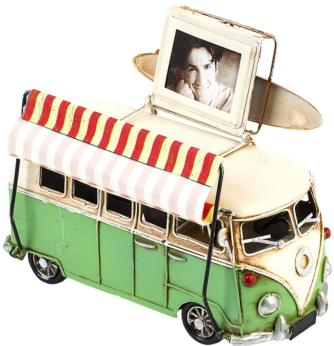 Модель Platinum Автобус, с фоторамкой. 1404E-4348JP-22/25Модель Platinum Автобус, выполненная из металла, станет оригинальным украшением вашего интерьера. Вы можете поставить модель автобуса в любом месте, где она будет удачно смотреться.Изделие дополнено фоторамкой, куда вы можете вставить вашу любимую фотографию.Качество исполнения, точные детали и оригинальный дизайн выделяют эту модель среди ряда подобных. Модель займет достойное место в вашей коллекции, а также приятно удивит получателя в качестве стильного сувенира.Размер фотографии: 4 х 5 см.