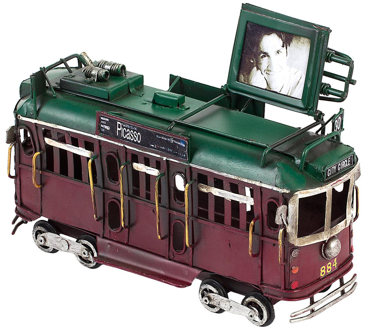 Модель Platinum Трамвай, с фоторамкой. 1404E-4362JP-764/17Модель Platinum Трамвай, выполненная из металла, станет оригинальным украшением интерьера. Вы можете поставить ретро-модель в любом месте, где она будет удачно смотреться.Изделие дополнено фоторамкой, куда вы можете вставить вашу любимую фотографию.Качество исполнения, точные детали и оригинальный дизайн выделяют эту модель среди ряда подобных. Модель займет достойное место в вашей коллекции, а также приятно удивит получателя в качестве стильного сувенира.