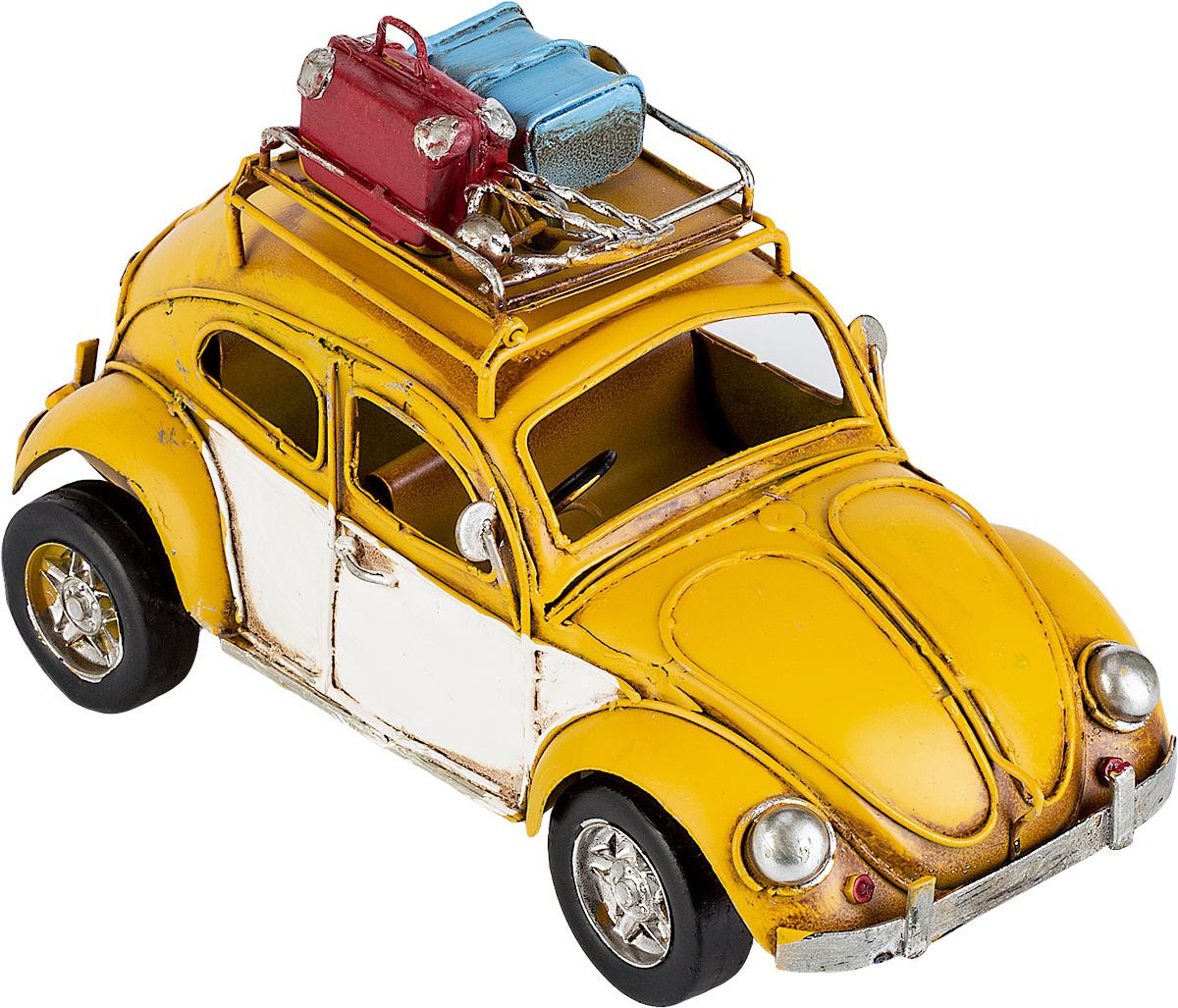 Модель Platinum Автомобиль, с фоторамкой. 1404E-4367700033Модель Platinum Автомобиль, выполненная из металла, станет оригинальным украшением интерьера. Вы можете поставить модель ретро-автомобиля в любом месте, где она будет удачно смотреться.Изделие дополнено фоторамкой, куда вы можете вставить вашу любимую фотографию.Качество исполнения, точные детали и оригинальный дизайн выделяют эту модель среди ряда подобных. Модель займет достойное место в вашей коллекции, а также приятно удивит получателя в качестве стильного сувенира.