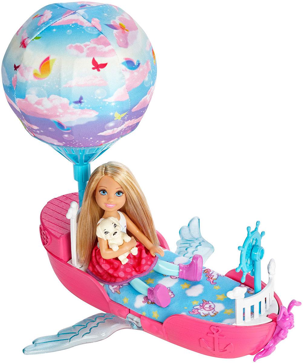 Barbie Игровой набор с мини-куклой Волшебная лодка barbie barbie шлепанцы со светодиодами для девочки фиолетовые