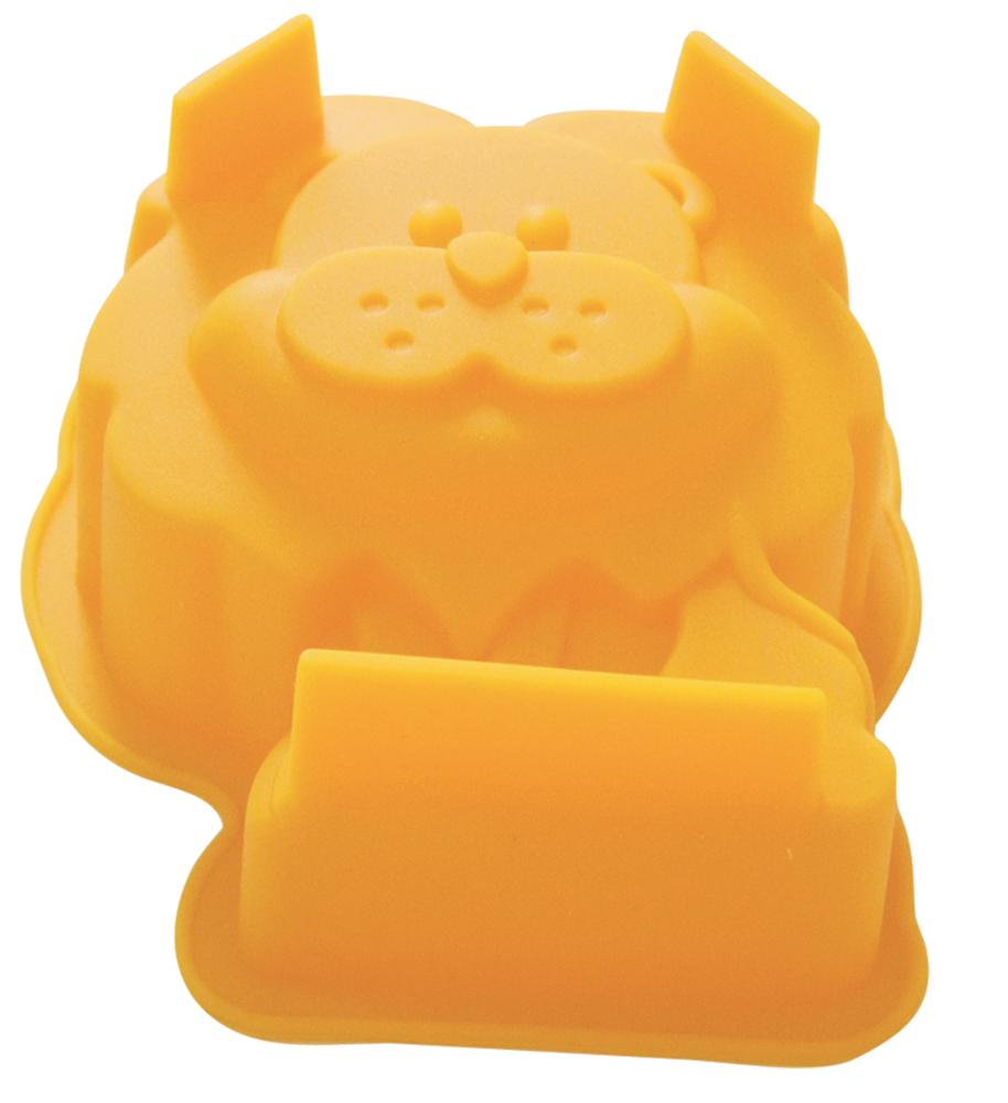 Форма для выпечки Regent Inox Львенок, силиконовая, цвет: желтый, 10 x 9 x 493-SI-FO-101Форма для выпечки Regent Inox Львенок выполнена из силикона, который абсолютно безвреден для здоровья. Готовая выпечка вынимается из гибкой и прочной посуды очень легко, а во время приготовления не пригорает. Форма обладает долгим сроком службы. Форма удобна в использовании: в ней можно готовить без лишнего жира – этот аксессуар достаточно смазать лишь перед первым использованием.Форма Львенок поможет приготовить вкусные и оригинальные кексы и печенья, которые очень порадуют семью и удивят гостей.