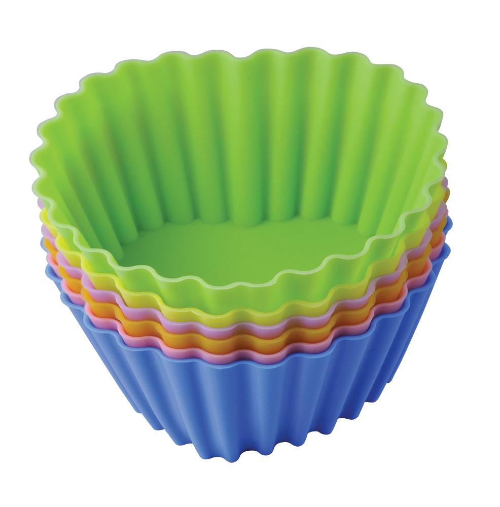Набор форм для выпечки Regent Inox Тарталетки-сердца, 8 х 3,5 см93-SI-S-17.2Набор Regent Inox Тарталетки-сердца включает в себя 6 разноцветных форм, изготовленных из пищевого силикона. Готовые сладости вынимаются из гибких и прочных изделий очень легко, а во время приготовления не пригорают. Формы являются экологичными: они не впитывают запахи, не взаимодействуют с пищей, оставляя ее натуральный вкус. Набор можно мыть в посудомоечной машине или вручную с неабразивными средствами. Силикон выдерживает температуру от -40° С до +230° С градусов, поэтому его можно использовать в духовых шкафах, в морозильных камерах и в микроволновках.