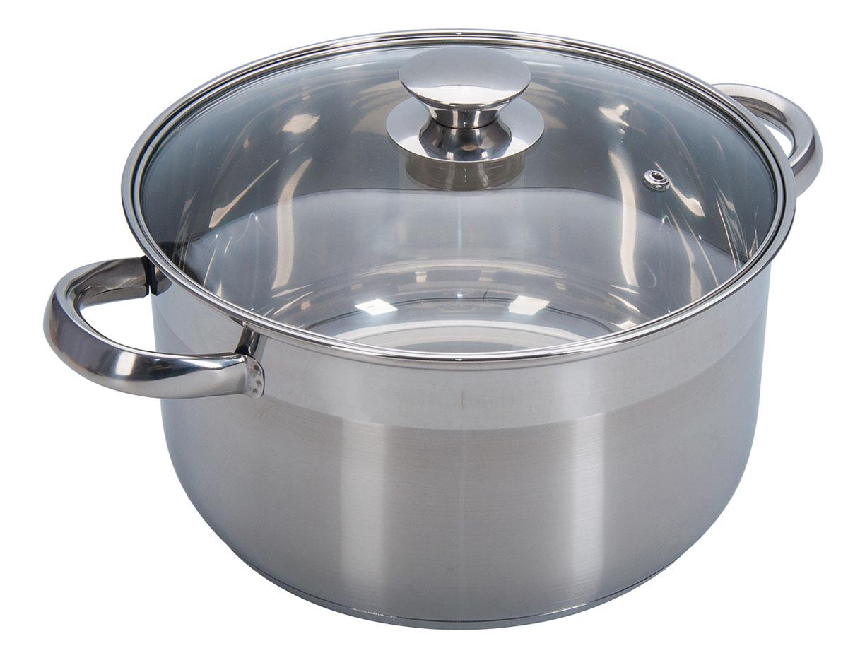 Кастрюля Regent Inox Promo, с крышкой, 6 л94-1006Кастрюля Regent Inox Promo будет очень удобна при приготовлении блюд на всю семью. Многослойное дно позволит готовить с комфортом. Благодаря комбинированному полированию кастрюли, она будет смотреться стильно и впишется в любой дизайн кухни. Благодаря стеклянной крышке удобно контролировать процесс готовки. Ручки приварены к корпусу, а значит их нагрев будет минимален, а надежность и прочность – на высоте.Диаметр кастрюли (по верхнему краю): 24 см.Высота стенок: 13,5 см.
