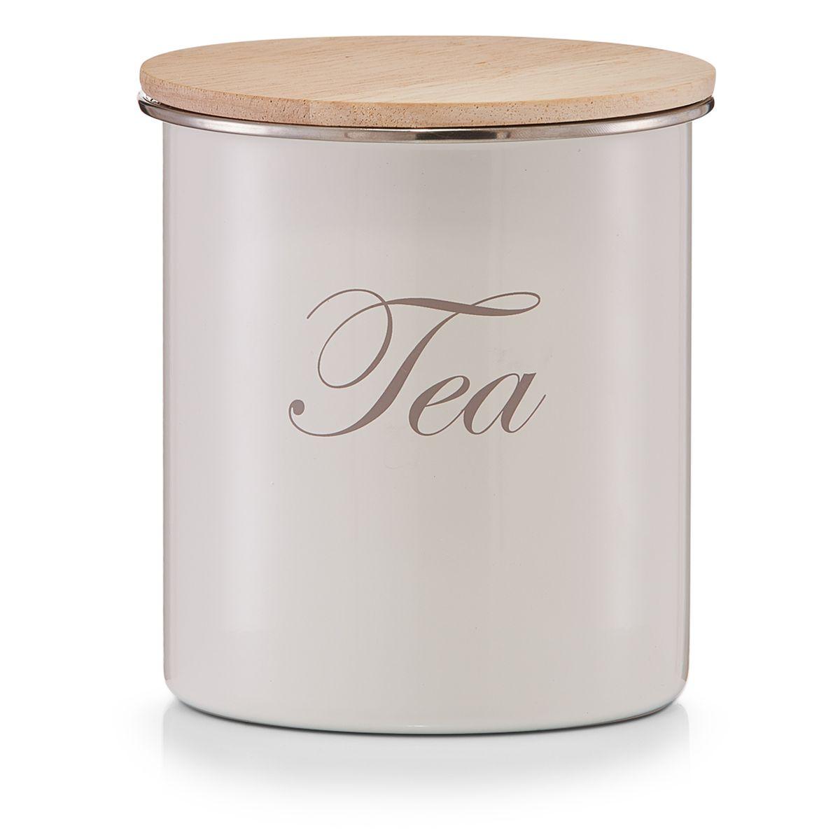 Банка для хранения Zeller Tea, 11,2 х 11,2 х 12,5 смVT-1520(SR)Банка Zeller Tea, выполненная из металла, снабжена деревянной крышкой, которая плотно и герметично закрывается, дольше сохраняя аромат и свежесть содержимого. Изделие предназначено для хранения любого вида чая. Стильная и практичная, такая банка станет незаменимым аксессуаром на любой кухне.