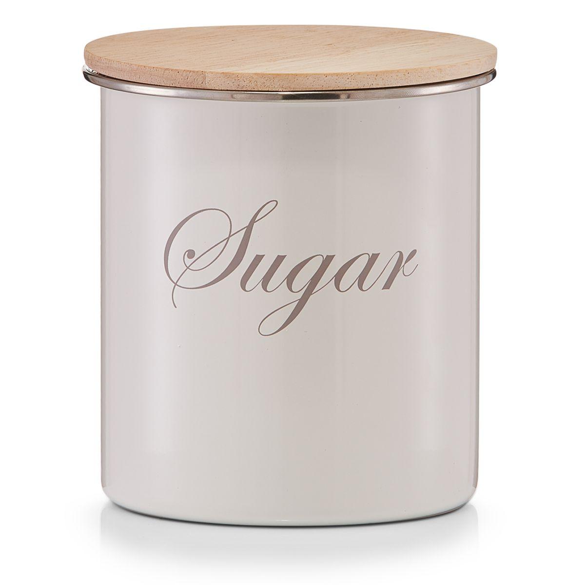Банка для хранения Zeller Sugar, 11,2 х 11,2 х 12,5 см21395599Банка Zeller Sugar, выполненная из металла, снабжена деревянной крышкой, которая плотно и герметично закрывается, дольше сохраняя аромат и свежесть содержимого. Изделие предназначено для хранения сахара. Стильная и практичная, такая банка станет незаменимым аксессуаром на любой кухне.