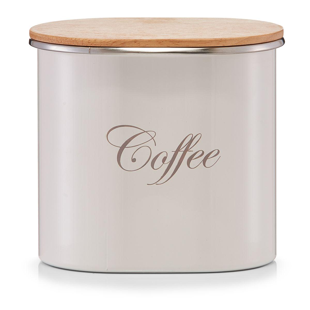 Банка для хранения Zeller Coffe, 15 х 11 х 13,5 смVT-1520(SR)Банка Zeller Coffee, выполненная из металла, снабжена деревянной крышкой, которая плотно и герметично закрывается, дольше сохраняя аромат и свежесть содержимого. Изделие предназначено для хранения любого вида кофе. Стильная и практичная, такая банка станет незаменимым аксессуаром на любой кухне.