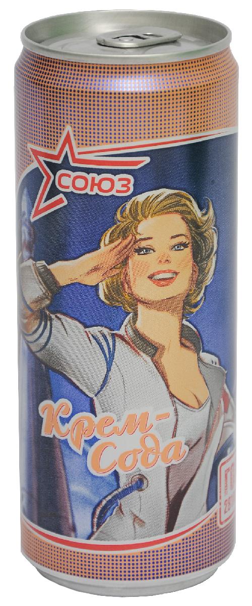 Союз Крем Сода Напиток безалкогольный сильногазированный, 0,33 л00129000000300Напиток Крем сода безалкогольный сильногазированный.