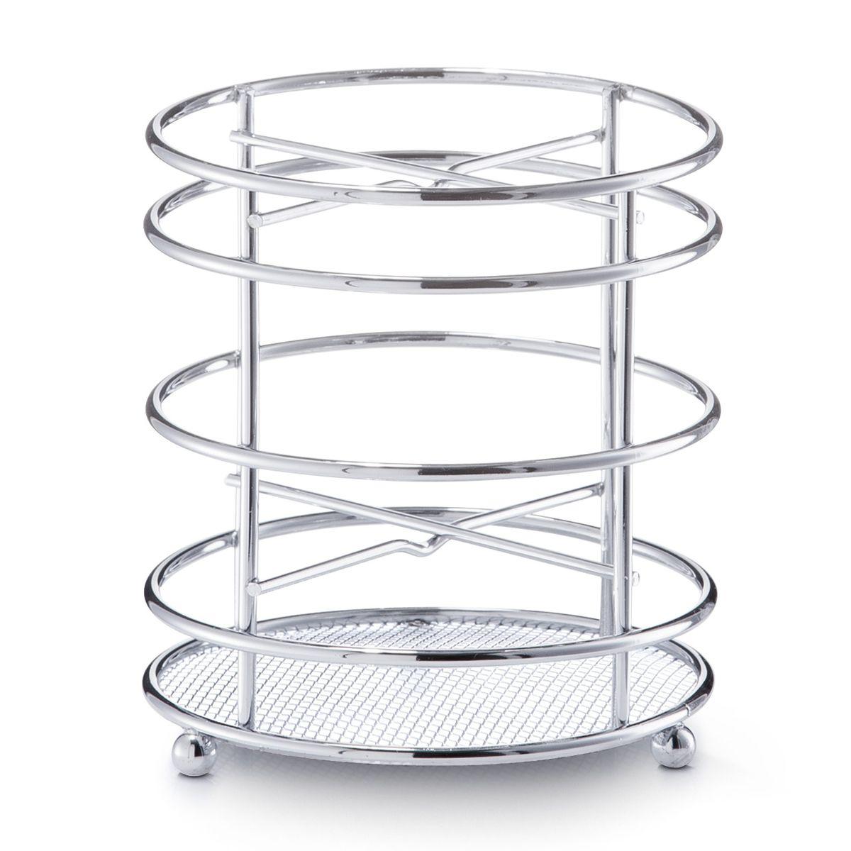 Подставка для кухонных принадлежностей Zeller, высота 13 см24868Подставка Zeller предназначена для удобного хранения и перемещения кухонных принадлежностей. Подставка выполнена из высококачественного металла. Каждая хозяйка знает, что подставка для кухонных принадлежностей - это незаменимый и очень полезный аксессуар на кухне.Диаметр подставки (по верхнему краю): 12 см. Высота подставки: 13 см.