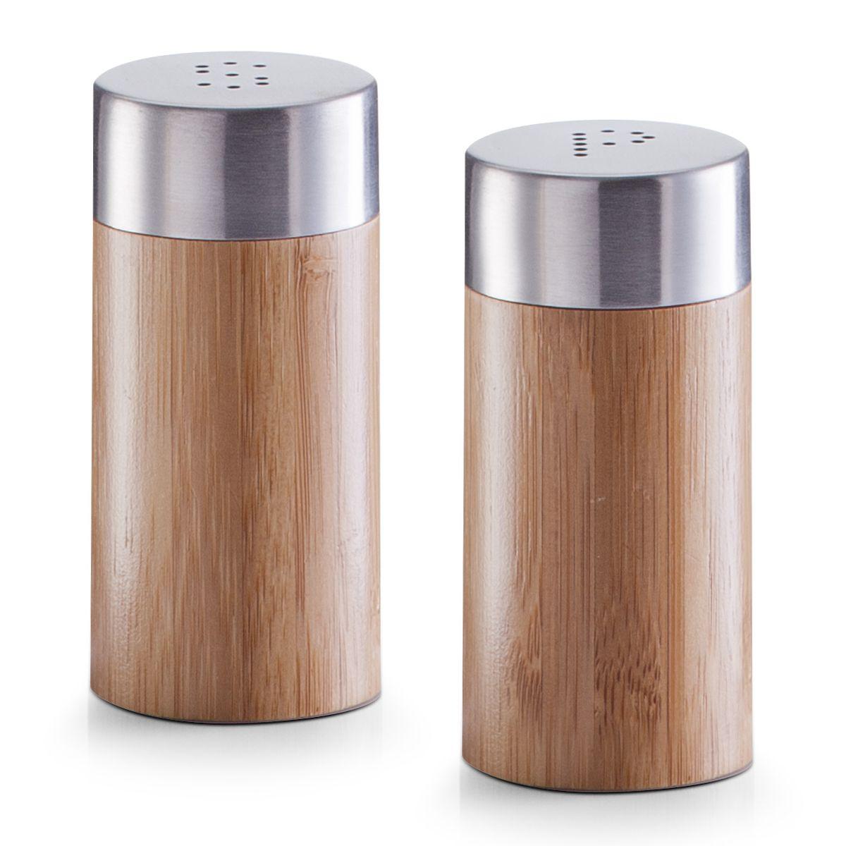 Набор емкостей для специй Zeller, 2 шт21395599Набор Zeller состоит из двух емкостей, изготовленных из дерева, которые предназначены для специй и соли. Изделия оснащены откручивающимися металлическими крышками с отверстиями. Стильная форма этих емкостей привлекает внимание и будет уместна на любой кухне. Диаметр емкости: 4 см. Высота емкости: 8,3 см.