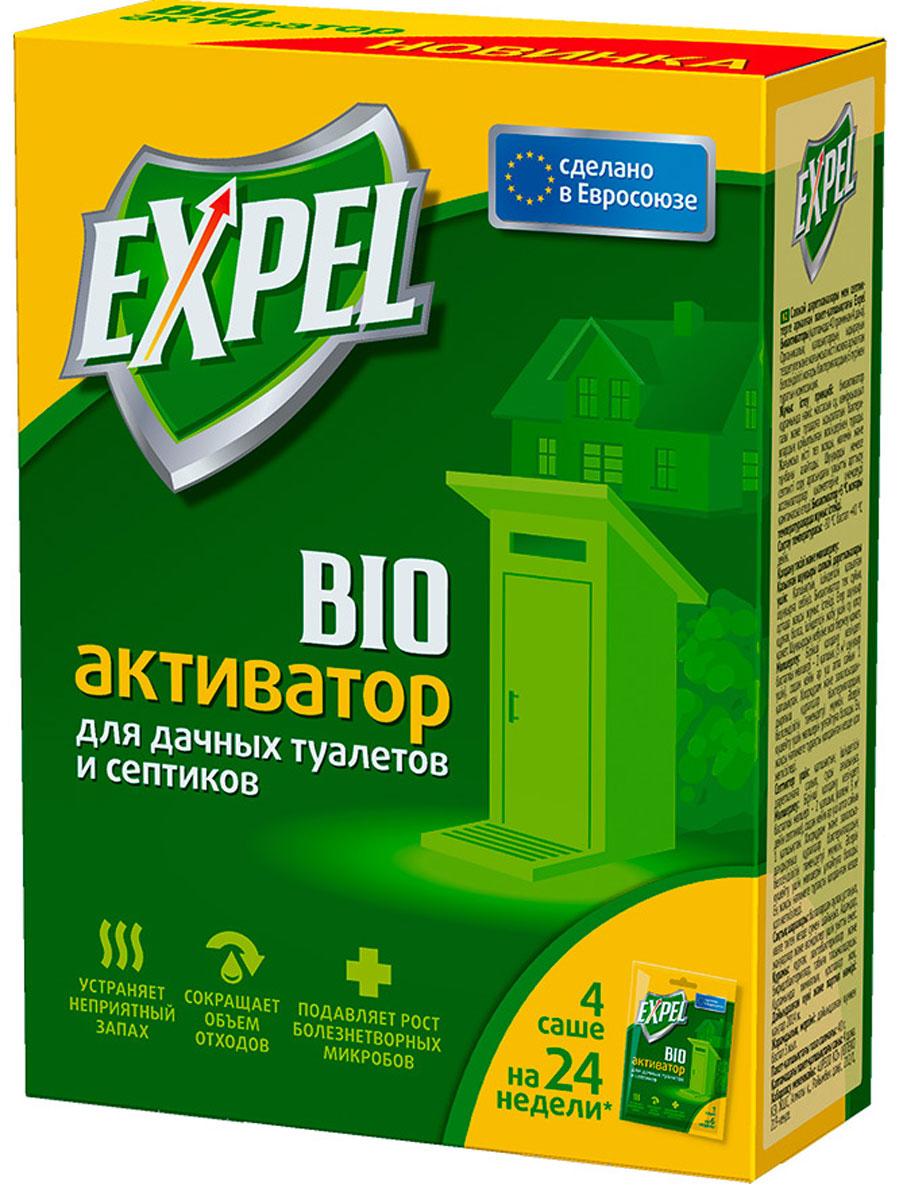 Биоактиватор Expel для дачных туалетов и септиков, 75 г, 4 штTS0001Биоактиватор Expel содержит концентрированные культуры бактерий. Которые разлагают фекальные массы на воду, углекислый газ и соли. Средство устраняет неприятный запах, уменьшает объем содержимого и осадка, подавляет рост болезнетворных микробов. Увеличение интервалов между откачками ямы или септика обеспечивает экономию на услугах ассенизатозоров. Способ применения: Для дачных туалетов с выгребной ямой: высыпать содержимое пакета в выгребную яму. Биоактиватор эффективно работает только в жидкой среде. Если яма обезвожена, необходимо добавить воды для покрытия содержимого. Не допускать высыхания ямы.Для септиков: высыпать содержимое пакета в унитаз и спустить воду.Дозировка: стартовая доза при первом применении - 2 пакета (на яму или септик до 3 м3), затем 1 пакет каждые 3-6 недель. Характеристики: Состав: сухие бактерии, энзимы, носитель. Вес: 4 х 75 г.Уважаемые клиенты!Обращаем ваше внимание на возможные изменения в дизайне упаковки. Качественные характеристики товара остаются неизменными. Поставка осуществляется в зависимости от наличия на складе.
