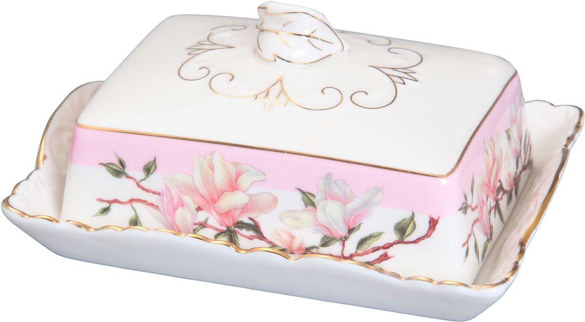 Масленка Elan Gallery Орхидея115510Великолепная масленка Elan Gallery Орхидея, выполненная из высококачественной керамики, предназначена для красивой сервировки и хранения масла. Она состоит из подноса и крышки. Масло в ней долго остается свежим, а при хранении в холодильнике не впитывает посторонние запахи. Масленка Elan Gallery Орхидея идеально подойдет для сервировки стола и станет отличным подарком к любому празднику.Не рекомендуется применять абразивные моющие средства. Не использовать в микроволновой печи.Размер масленки: 16 х 11,5 х 7 см.