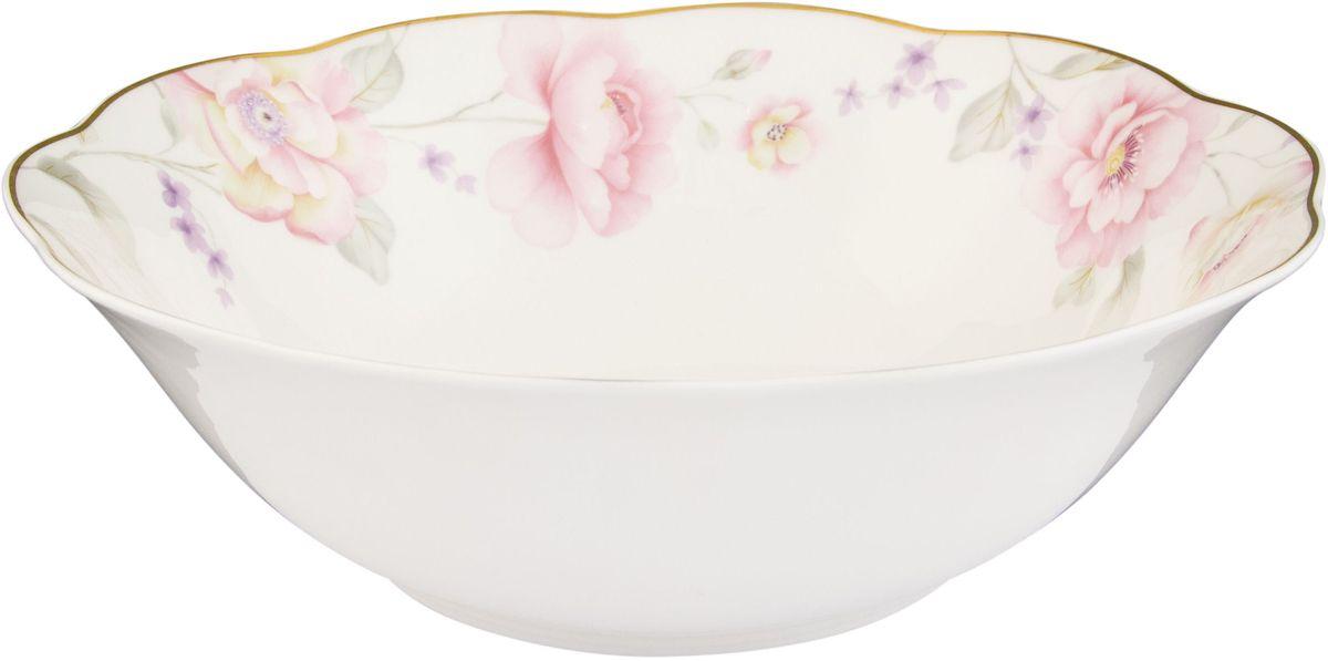Салатник Elan Gallery Жизель, 1,4 л54 009312Великолепныйсалатник Elan Gallery Жизель, изготовленный из высококачественного фарфора, прекрасно подойдет для подачи различных блюд: закусок, салатов или фруктов. Такой салатник украсит ваш праздничный или обеденный стол, а оригинальное исполнение понравится любой хозяйке. Не рекомендуется применять абразивные моющие средства. Не использовать в микроволновой печи.Диаметр салатника (по верхнему краю): 22,5 см.Высота салатника: 6,5 см.