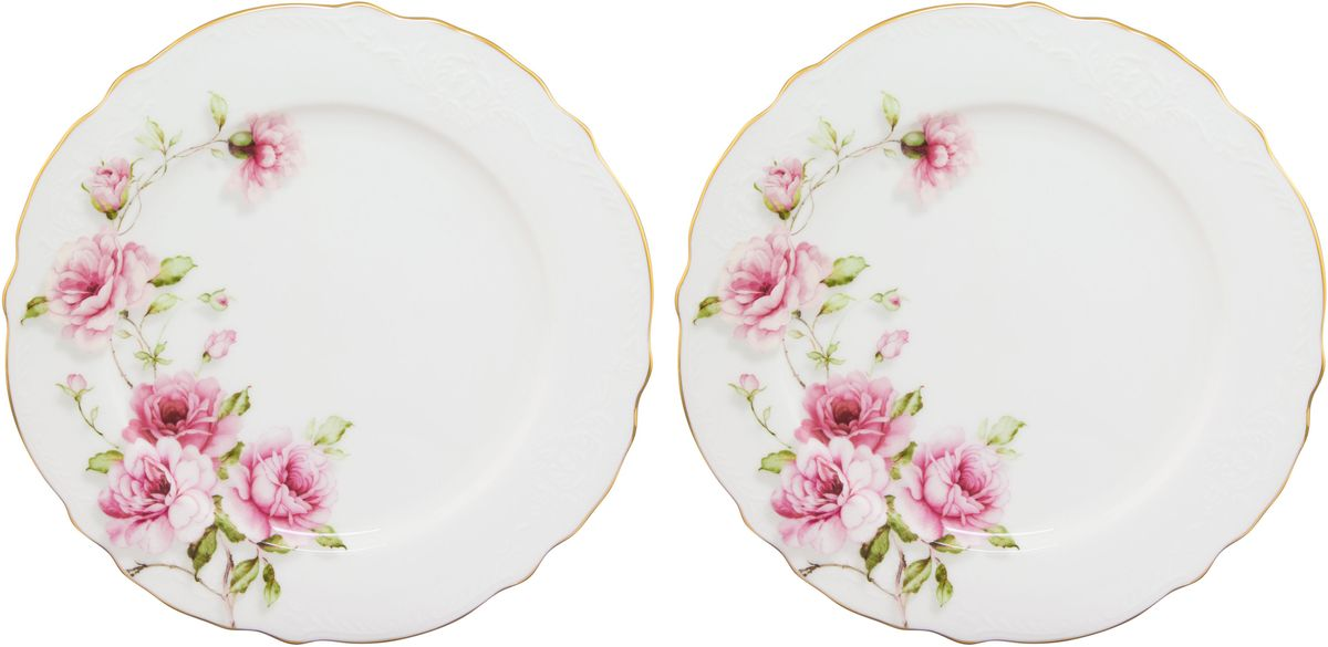 Набор тарелок для десертов Elan Gallery Амалия, 20 х 20 х 1,5 мл, 2 шт54 009312У Вас намечается небольшое торжество - используйте набор из 2 тарелок для десертов. Они не займут много места на столе. Тарелки из серии Амалия станут украшением Вашего стола. Изделие имеет подарочную упаковку.