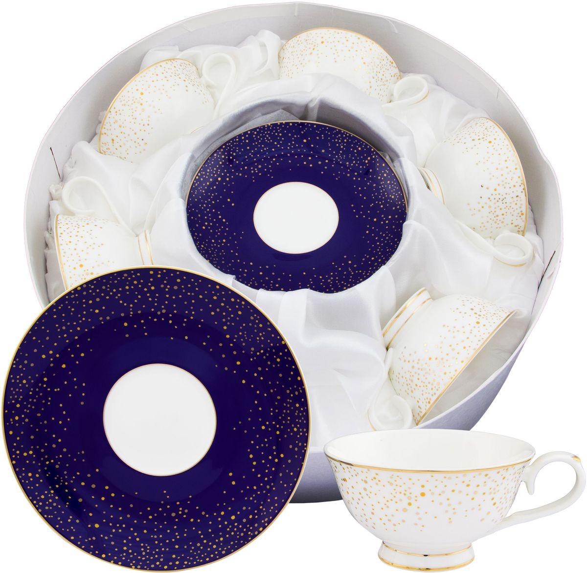 Чайный набор Elan Gallery День и ночь, 220 мл, 12 предметовVT-1520(SR)Чайный набор нежных тонах на 6 персон украсит Ваше чаепитие. В комплекте 6 чашек на ножке объемом 220 мл, 6 блюдец. Изделие имеет подарочную упаковку, поэтому станет желанным подарком для Ваших близких! Не рекомендуется применять абразивные моющие средства. Не использовать в микроволновой печи.