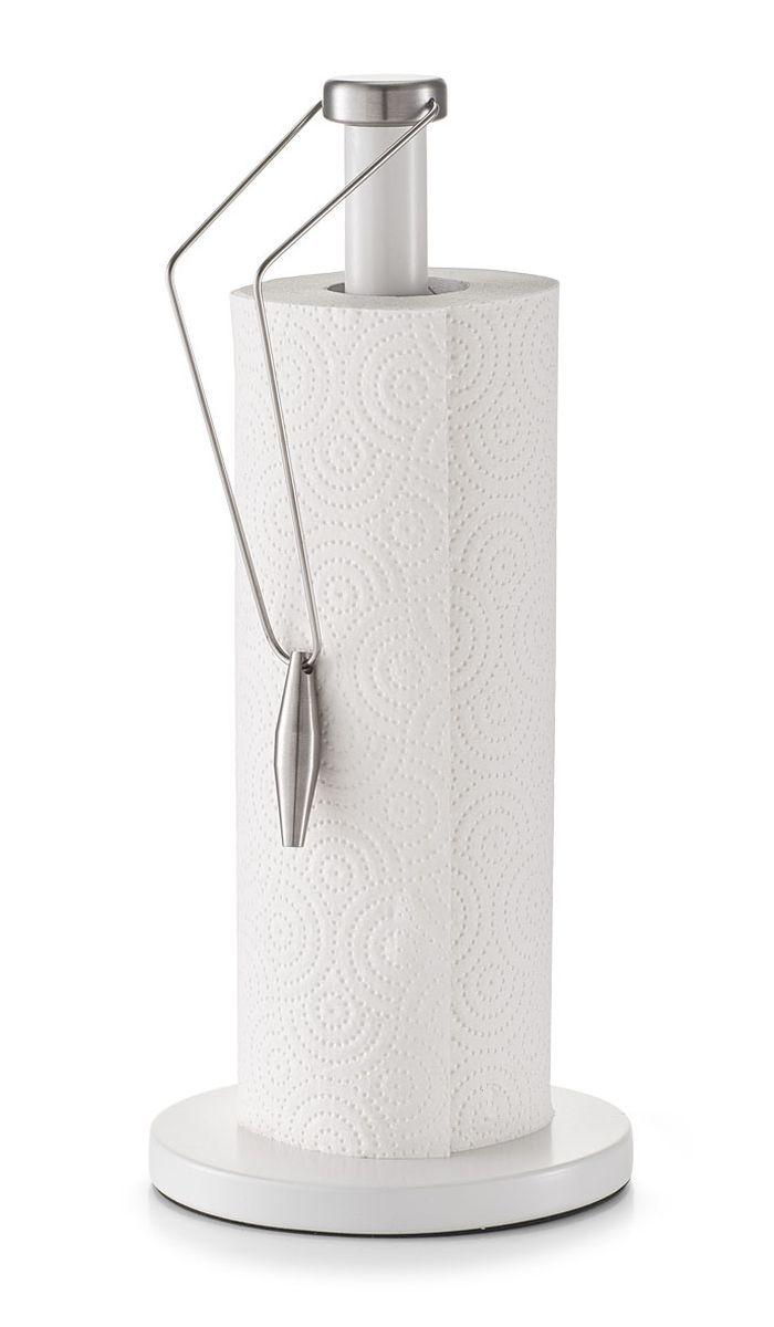 Держатель для бумажных полотенец Zeller, высота 33,5 смFD-59Держатель для бумажных полотенец Zeller изготовлен из металла. Изделие оснащено специальным фиксатором для полотенец. Круглое основание держателя гарантирует устойчивость. Вы можете установить его в любом удобном месте. Такой держатель станет полезным аксессуаром в домашнем быту и идеально впишется в интерьер современной кухни. В комплекте рулон не предоставляется. Высота держателя: 33,5 см.Диаметр основания: 15 см.